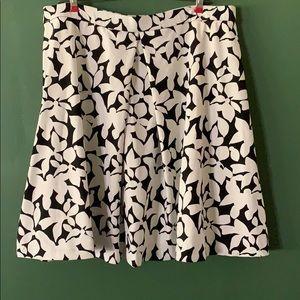 Cynthia Rowley circle skater floral skirt XL